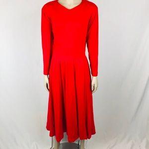Vintage Knit Pleated Maxi Dress Sz 10